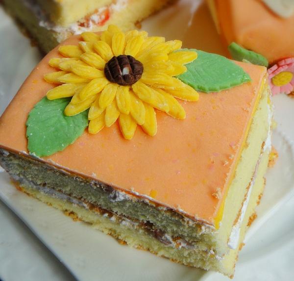 Hướng dẫn chi tiết trang trí bánh gato hoa hướng dương