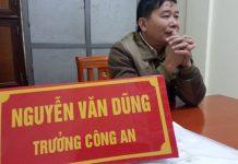 Ông Nguyễn Văn Dũng, Trưởng công an xã Nghi Phú đương nhiệm. Ảnh: Hồ Văn