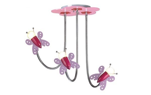 15 mẫu đèn treo độc đáo dành cho phòng ngủ bé gái