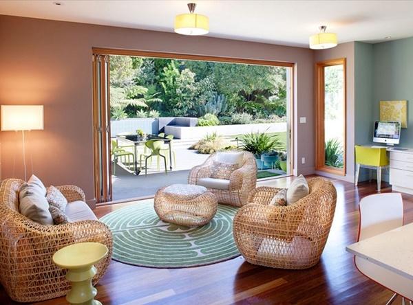 Những ý tưởng mới lạ đưa ghế mây đến với phòng khách nhà bạn