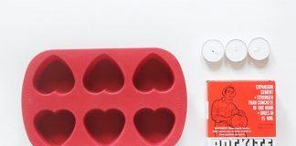 Siêu lãng mạn với khay đựng nến hình tim