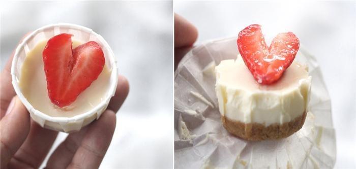 Cupcake phô mai dâu tây không cần dùng lò nướng