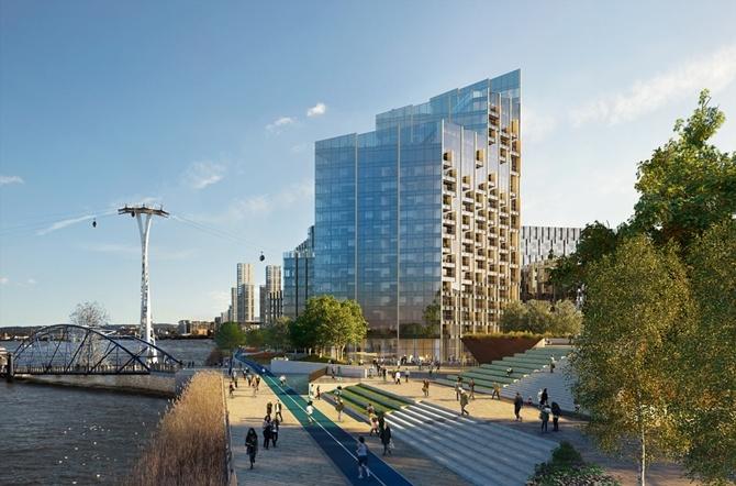 Thiết kế cho tòa nhà phủ kính đầy ấn tượng