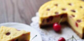 Xốp mịn bánh bông lan cherry