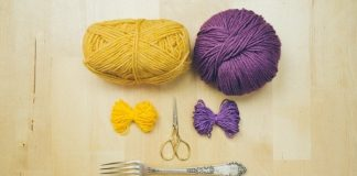 Các cách đơn giản để làm quả bông bằng len