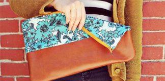 Túi da kết hợp vải hoa vừa quen vừa lạ