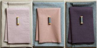 Độc đáo với khăn vải khâu viền màu nổi bật