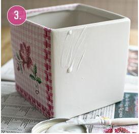 Trang trí lọ hoa bằng khăn giấy màu dễ thương - 4