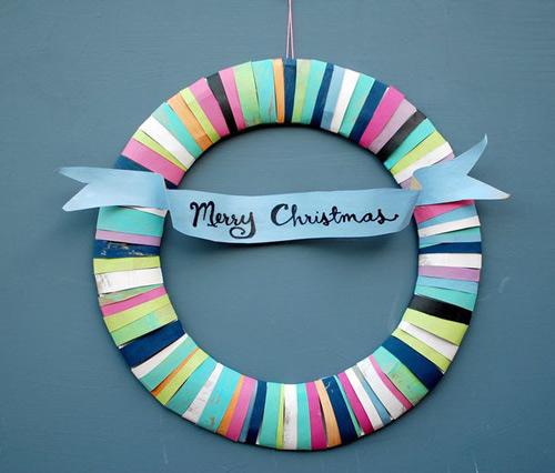 Cách biến tấu vòng hoa Giáng sinh đầy màu sắc - 8