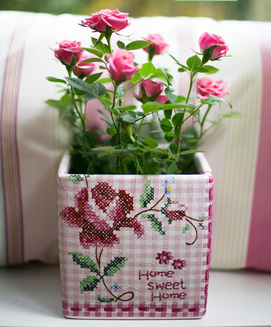 Trang trí lọ hoa bằng khăn giấy màu dễ thương - 7