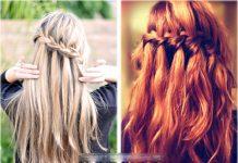 Kiểu tết tóc 'thác nước' cho ngày thu dịu dàng