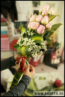 Cách bó hoa hồng thể hiện sự trân trọng - 8