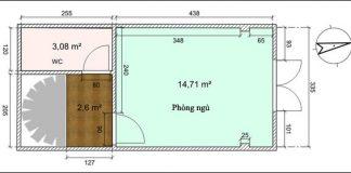 Tư vấn cải tạo phòng cưới 15m² cho vợ chồng trẻ 1