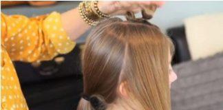 Cách tết tóc hình 3 trái tim duyên dáng - 1