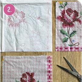 Trang trí lọ hoa bằng khăn giấy màu dễ thương - 2