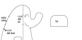 Cách khâu chú voi con cực ngộ nghĩnh cho bé - 1