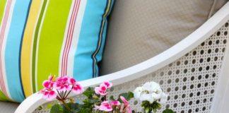 Tái chế rổ cũ thành chậu hoa handmade cực độc