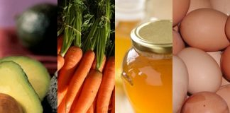 Mặt nạ từ cà rốt, bơ và mật ong cho da khô