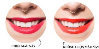 Cách chọn son môi đẹp cho răng thêm trắng sáng