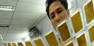 Giá vàng tăng vọt gần 1 triệu đồng/lượng