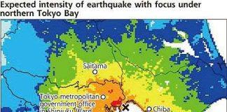 Có thể sẽ xảy ra động đất mạnh ở Bắc Vịnh Tokyo