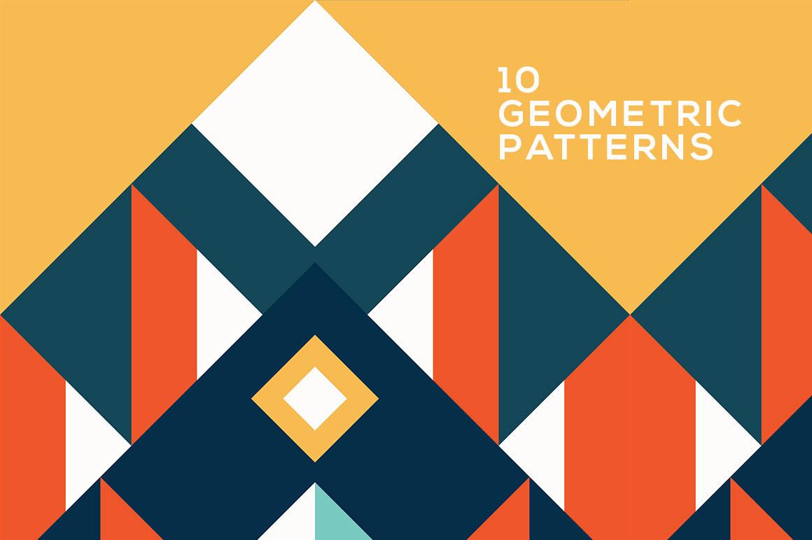 10 Mẫu Pattern miễn phí phong cách Geomatric (các khối hình học)