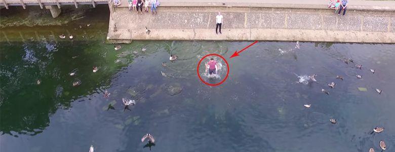 Video thú vị: Chiếc Drone ghi lại cảnh chủ nhân cứu thoát trước khi rơi xuống nước vì hết pin